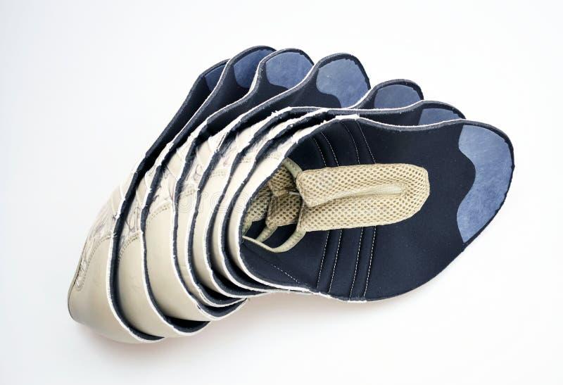 De schoenen van de productieontwerper, lezingen stock afbeelding