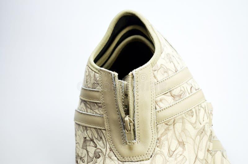 De schoenen van de productieontwerper, lezingen royalty-vrije stock foto