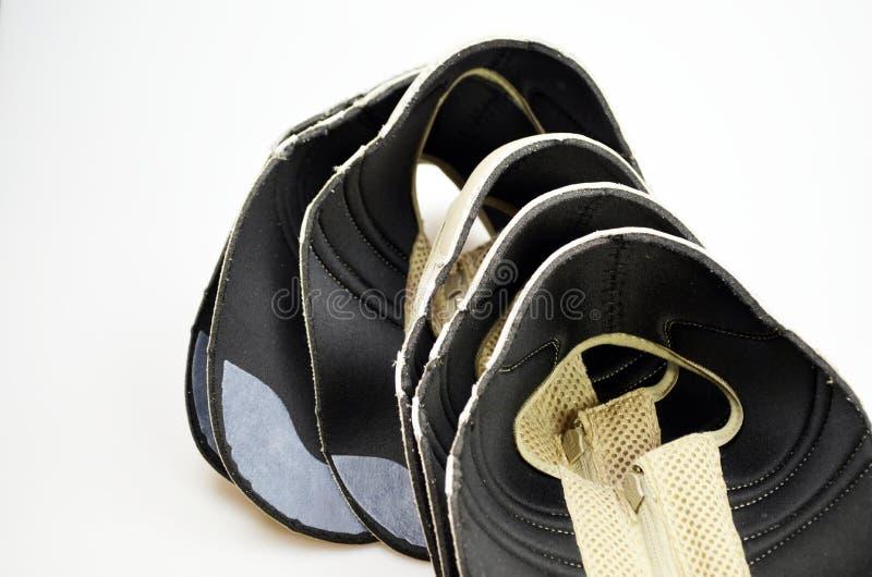 De schoenen van de productieontwerper, lezingen royalty-vrije stock fotografie