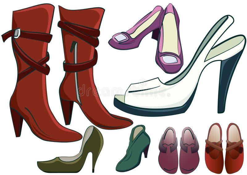 De schoenen van vrouwen royalty-vrije illustratie