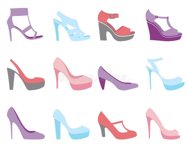 De schoenenmanier van de zomer stock illustratie