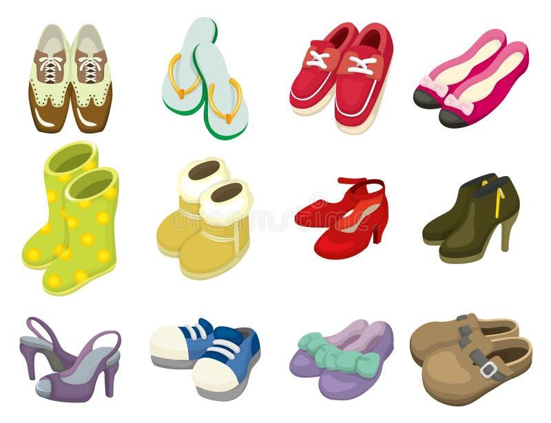De schoenenpictogram van het beeldverhaal vector illustratie