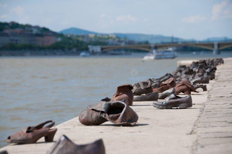 De Schoenenrivier Donau Boedapest royalty-vrije stock foto's