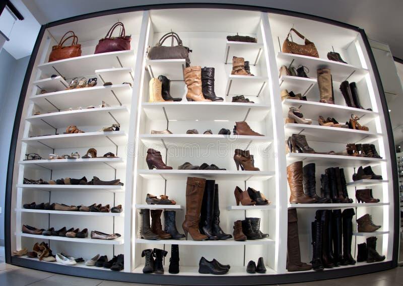 De schoenenwinkel van de manier stock afbeelding