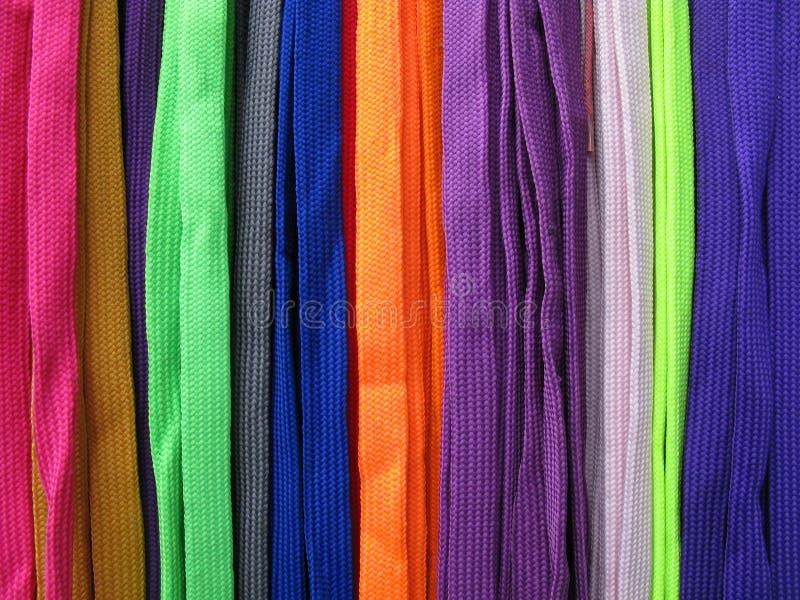 De schoenveters allen kleurt kleurrijk royalty-vrije stock foto