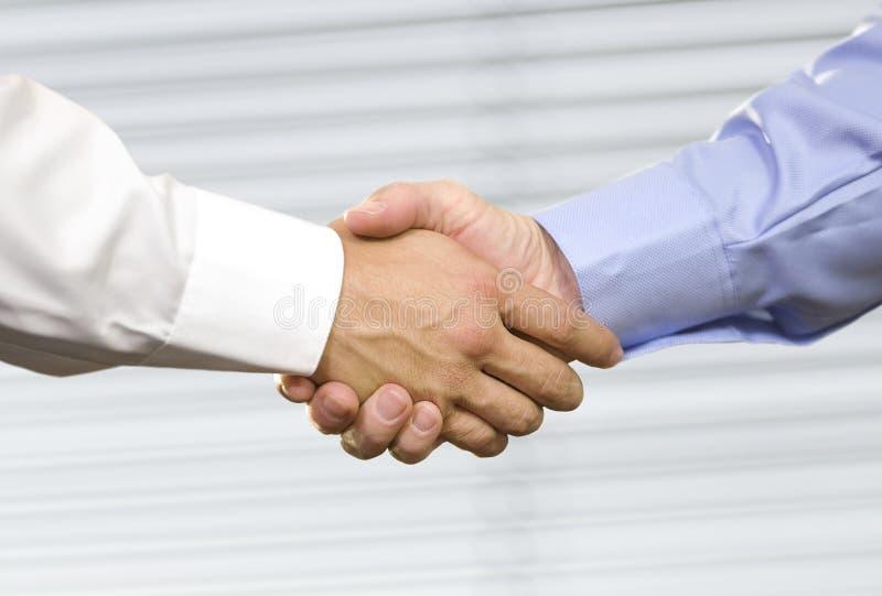 De Schok Hand van de bedrijfs van de Handdruk royalty-vrije stock foto