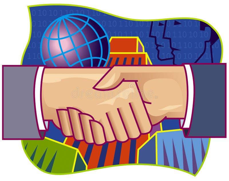 De schok van de Hand van het vennootschap vector illustratie
