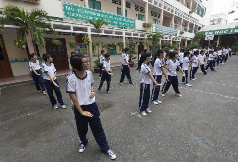 De scholen van Vietnam royalty-vrije stock afbeelding