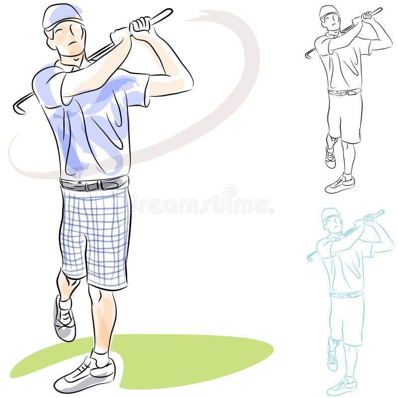 De Schommeling van de Speler van het golf vector illustratie
