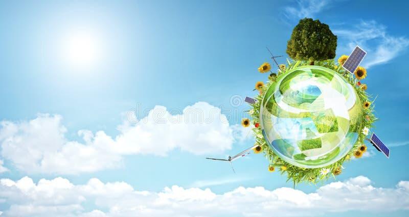 De schone banner van het milieuconcept stock afbeeldingen