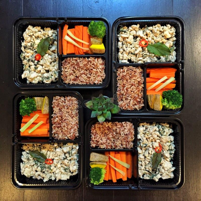 De schone doos van de voedsellunch royalty-vrije stock afbeelding