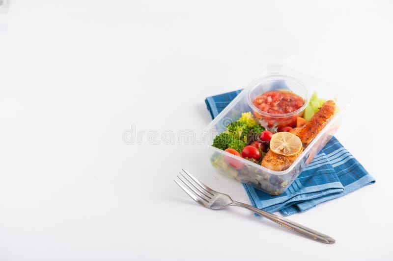 De schone doos van de voedsellunch royalty-vrije stock fotografie