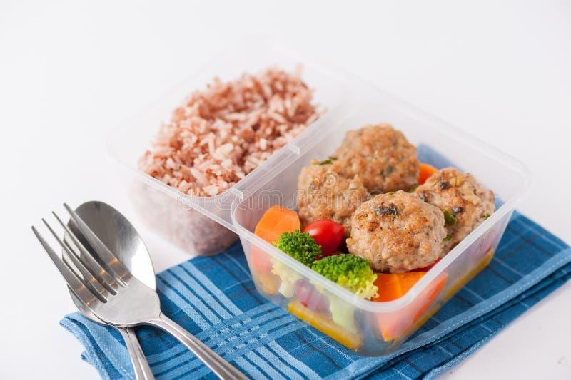 De schone doos van de voedsellunch stock foto