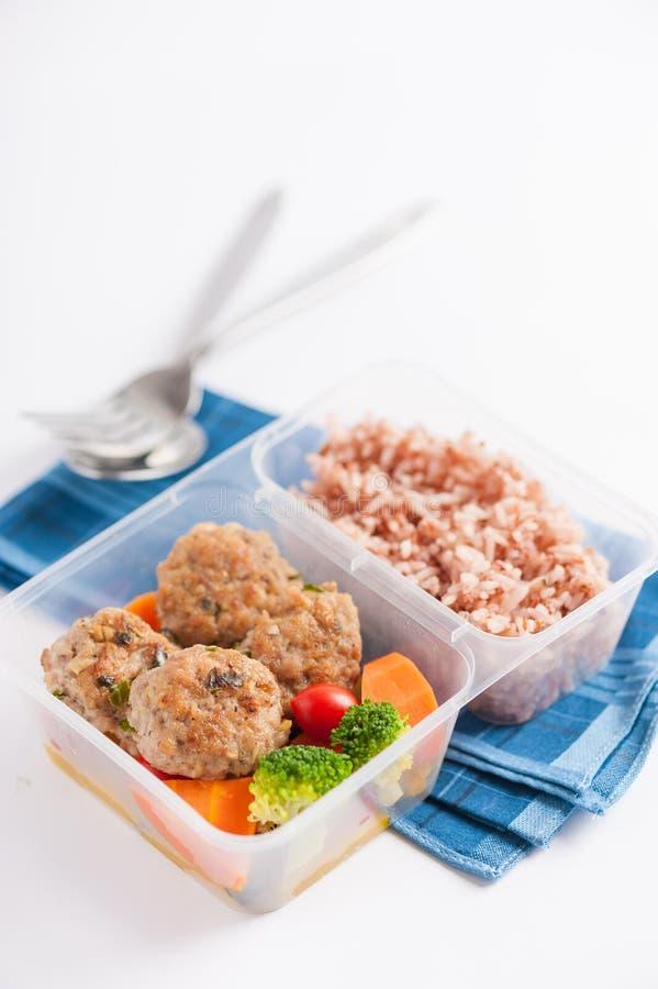 De schone doos van de voedsellunch stock fotografie