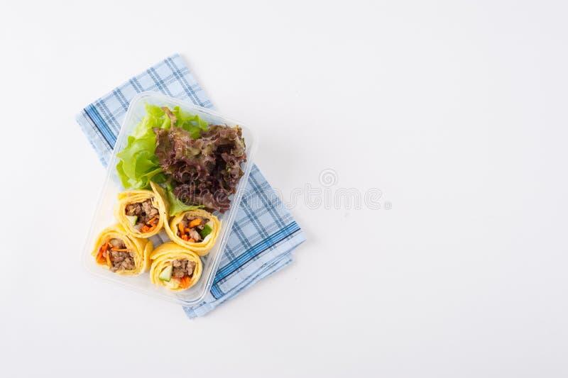 De schone doos van de voedsellunch royalty-vrije stock afbeeldingen