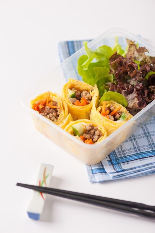 De schone doos van de voedsellunch stock foto's