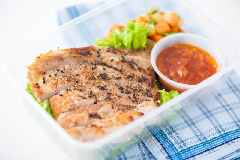 De schone doos van de voedsellunch stock afbeeldingen