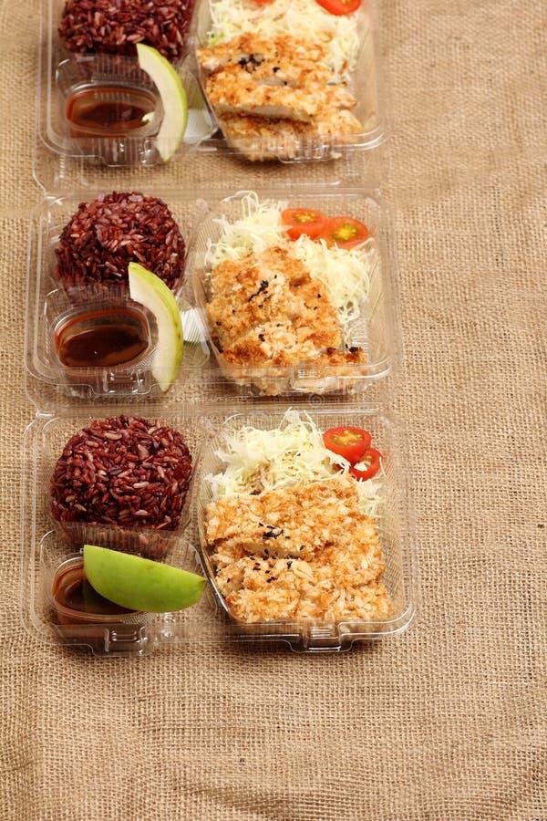 De schone doos van de voedsellunch royalty-vrije stock foto's