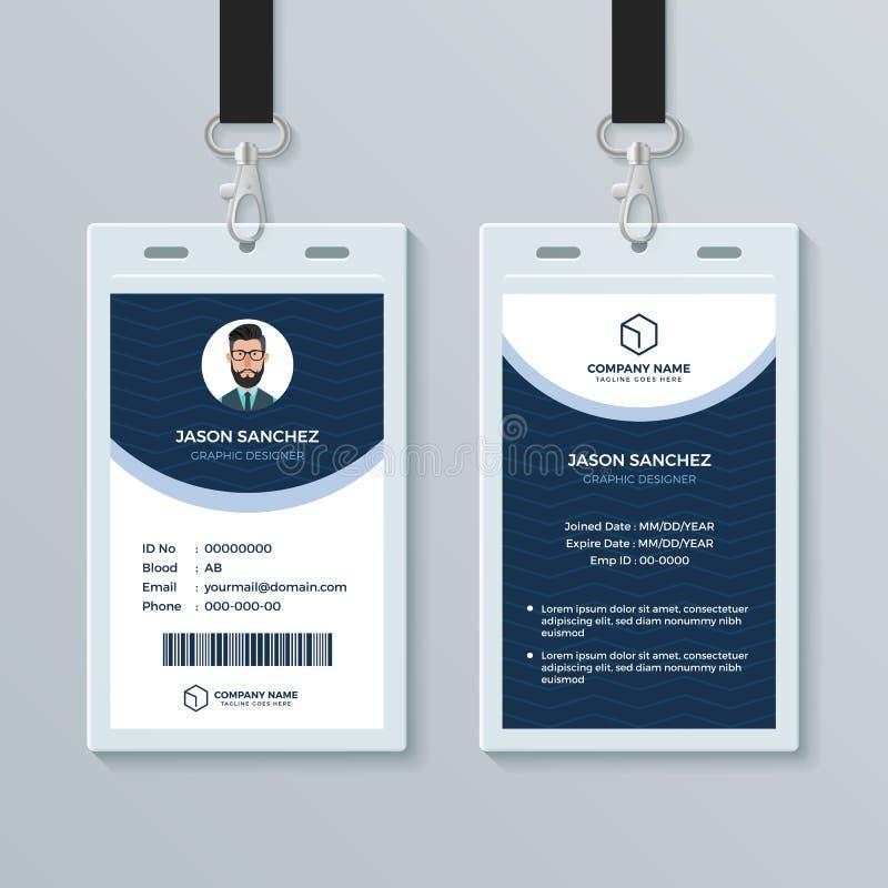 De schone en Moderne Ontwerpsjabloon van de Werknemer-IDkaart stock illustratie