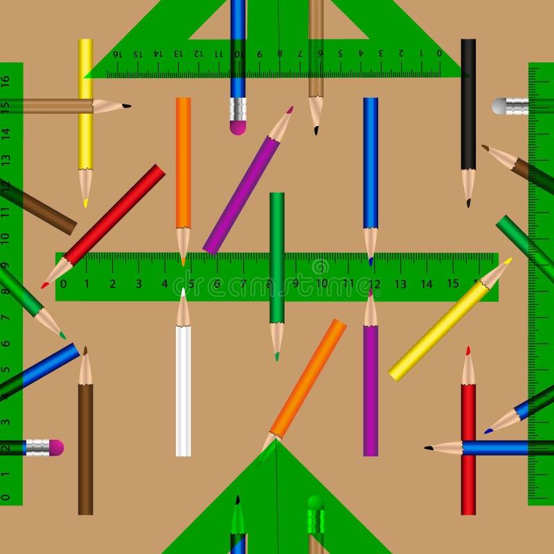 De school heeft vector naadloos patroon bezwaar vector illustratie