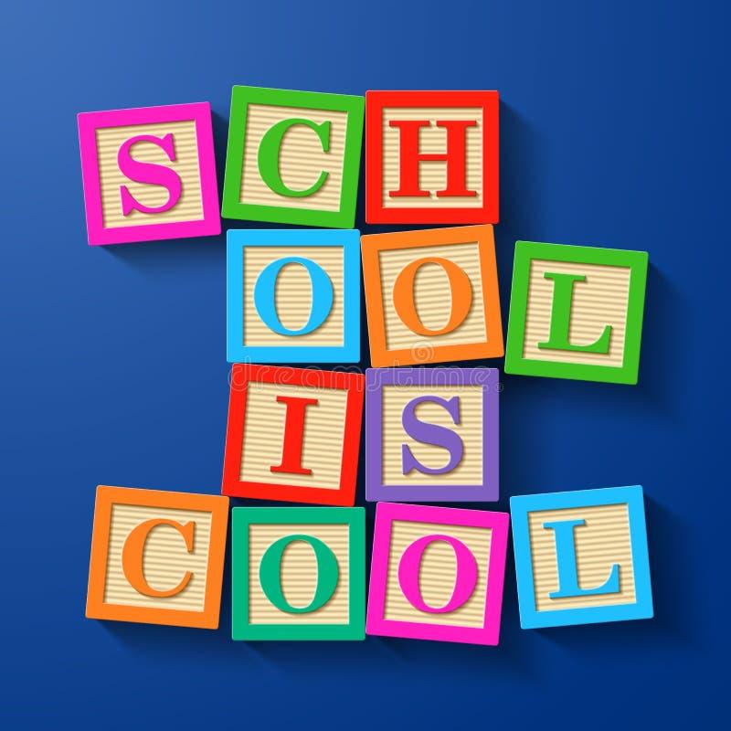 De school is koel stock illustratie