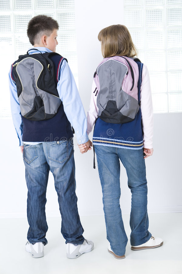 De school-liefde stock afbeelding