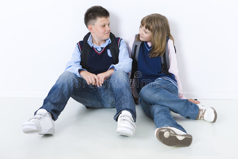 De school-liefde royalty-vrije stock foto's