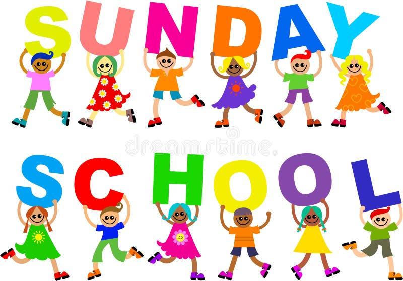 De School van de zondag stock illustratie