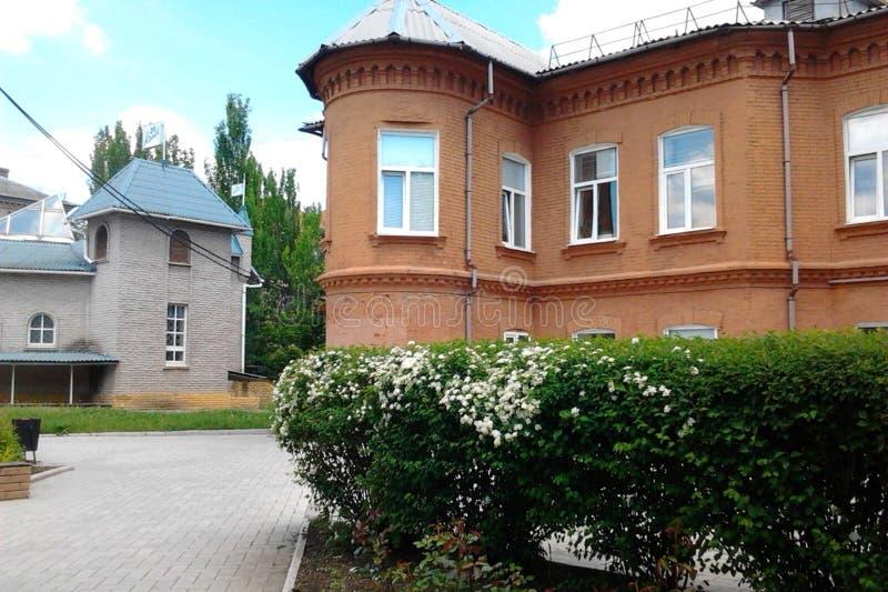 De school van muziek in Artemivsk stock fotografie