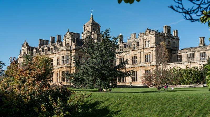 De School van Westonbirtmeisjes dichtbij Tetbury Gloucestershire, Engeland stock fotografie
