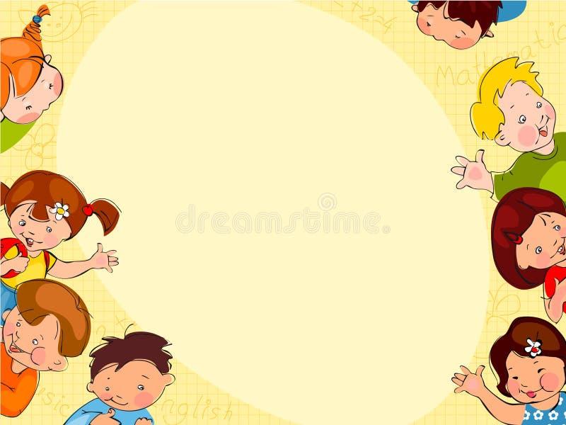 De schoolachtergrond van kinderen vector illustratie