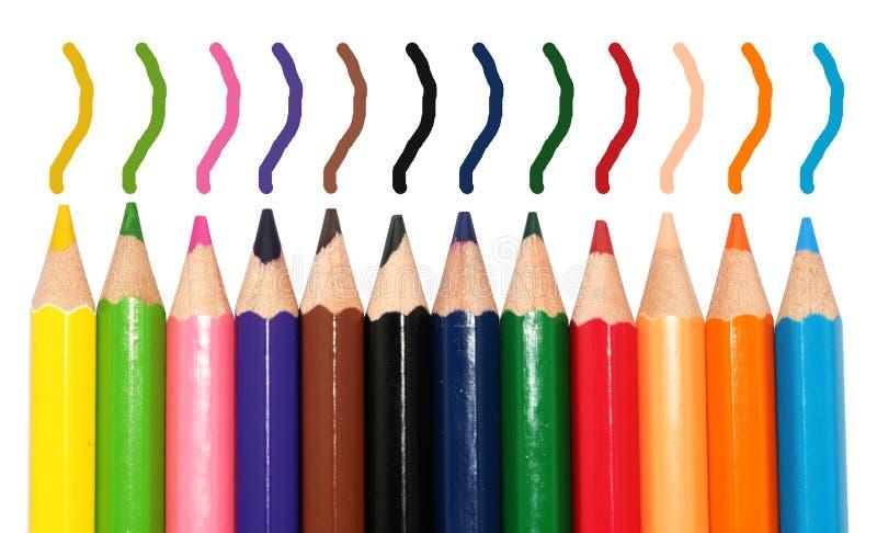 De schoolontwerp van de kleurenpen royalty-vrije stock afbeeldingen