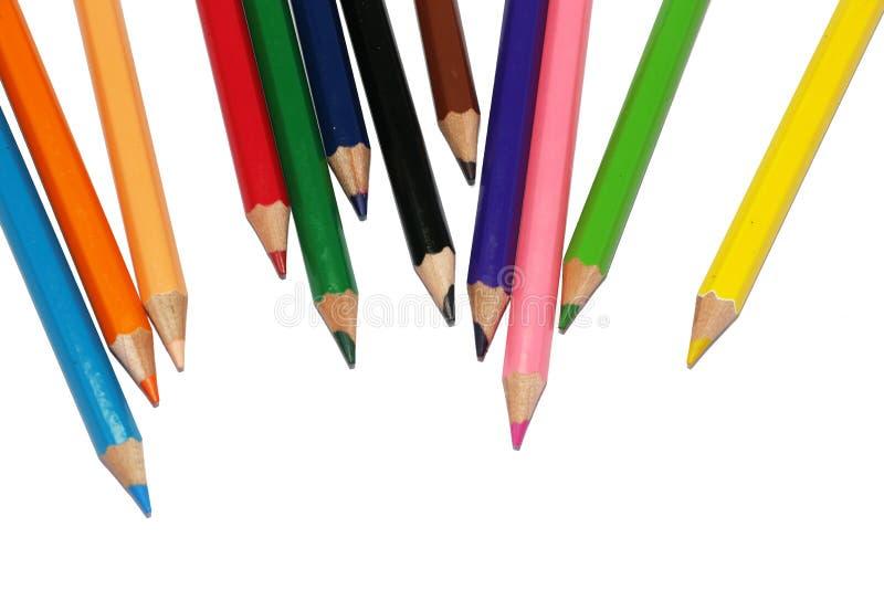 De schoolontwerp van de kleurenpen stock afbeelding