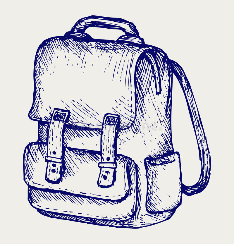 De schooltas van de illustratie vector illustratie