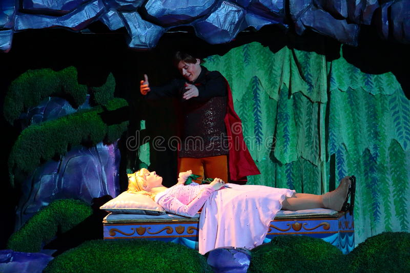 De Schoonheid en de Prins van de slaap royalty-vrije stock foto