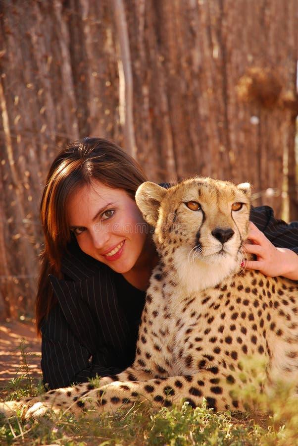 De schoonheid en het dier stock foto
