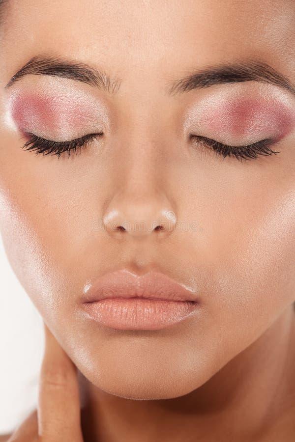 De schoonheid ontsproot de Moderne Make-up van het Oog stock afbeeldingen