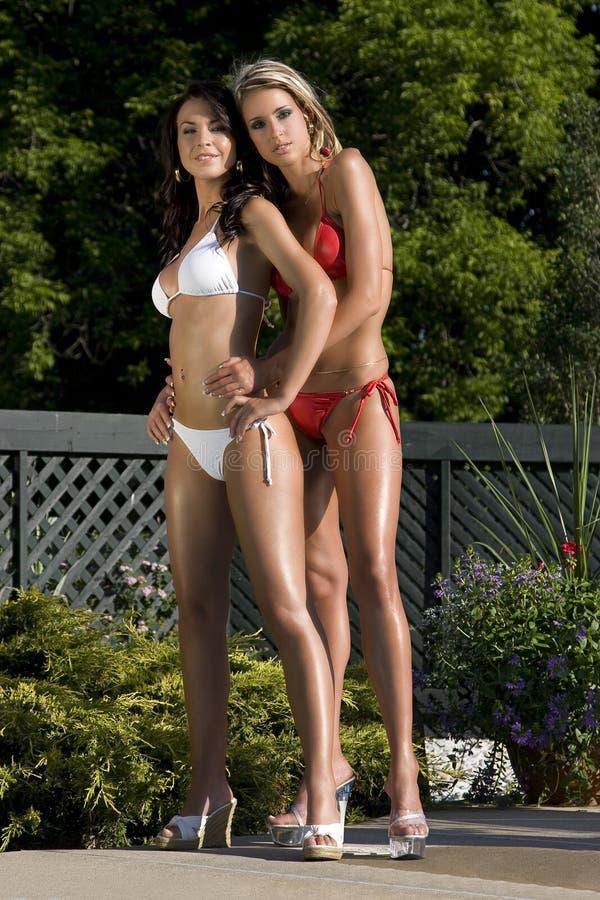 De schoonheid van de bikini royalty-vrije stock fotografie