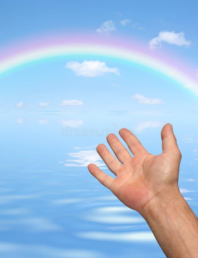 De Schoonheid van de regenboog stock afbeeldingen