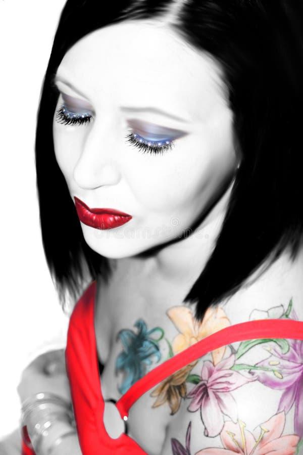 De schoonheid van de tatoegering stock afbeelding