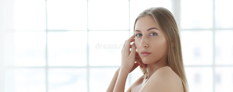 De schoonheid van de vrouw stock foto