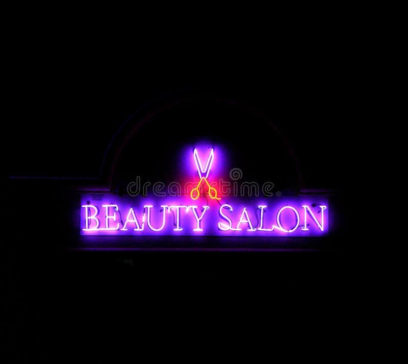 De schoonheid van het neon royalty-vrije stock afbeelding