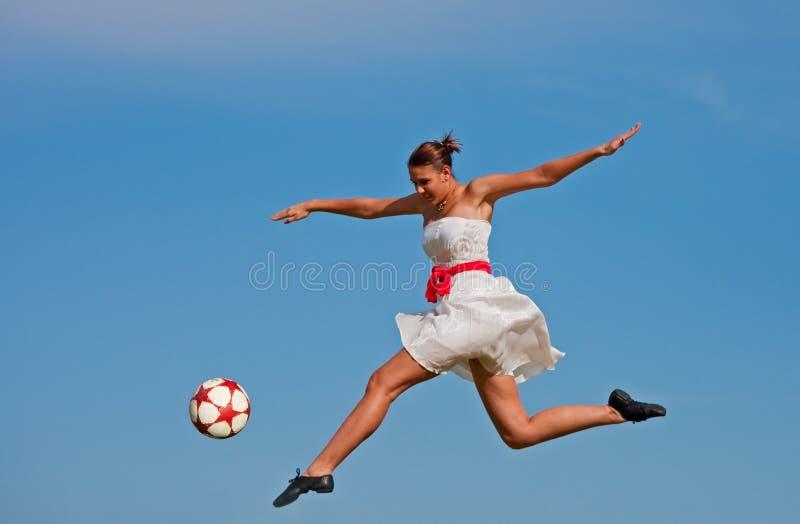 De Schoonheid van het voetbal stock afbeelding