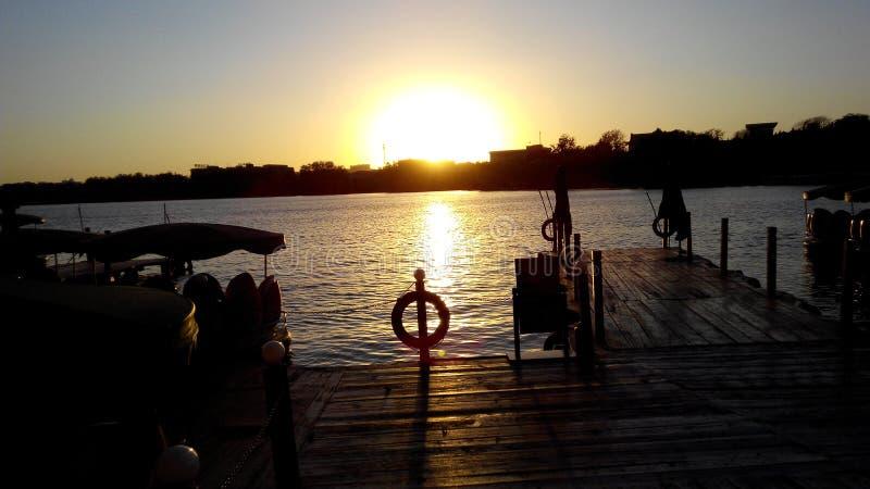 De schoonheid van mijn zonsondergang royalty-vrije stock foto's