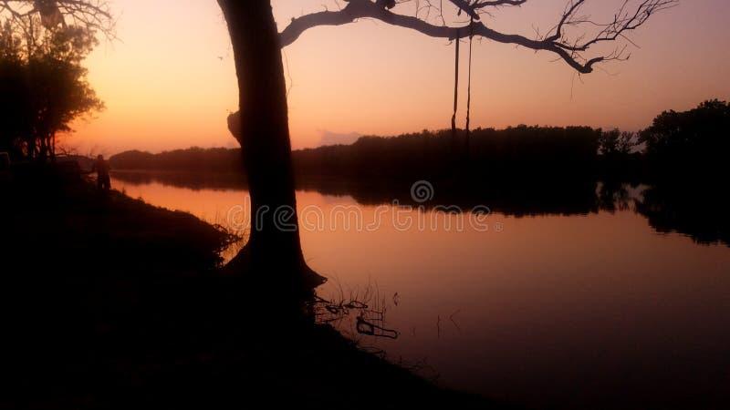 De schoonheid van de missie Bend Ft Gibson Lake Oklahoma stock foto