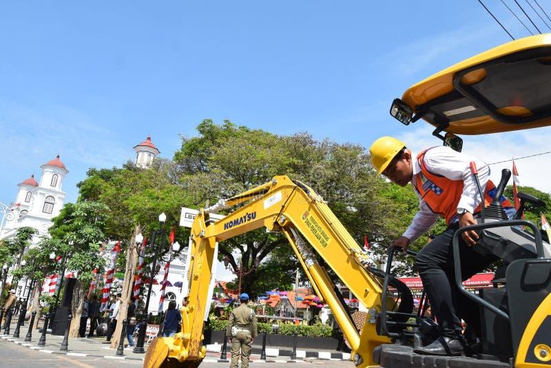 De schoonheid van de oude stad van Semarang stock foto
