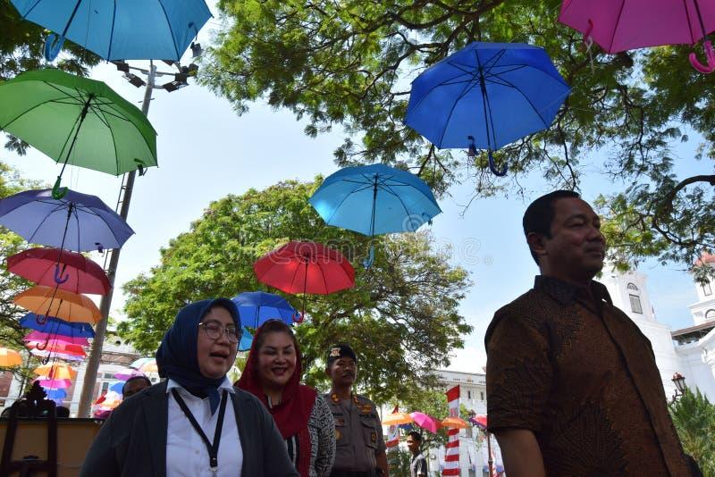 De schoonheid van de oude stad van Semarang stock fotografie