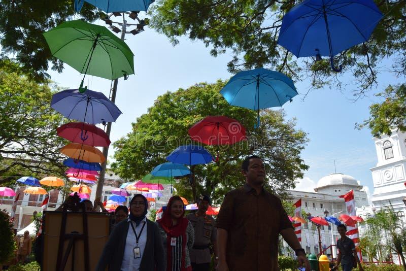 De schoonheid van de oude stad van Semarang royalty-vrije stock afbeeldingen