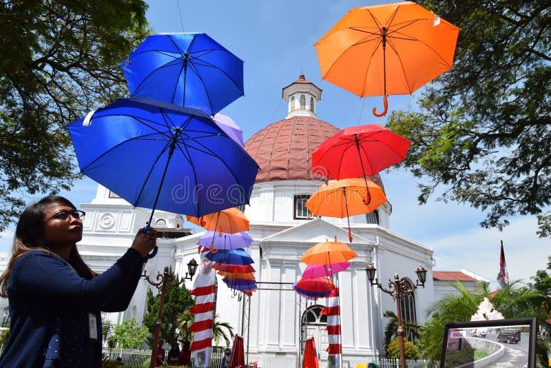 De schoonheid van de oude stad van Semarang stock afbeeldingen