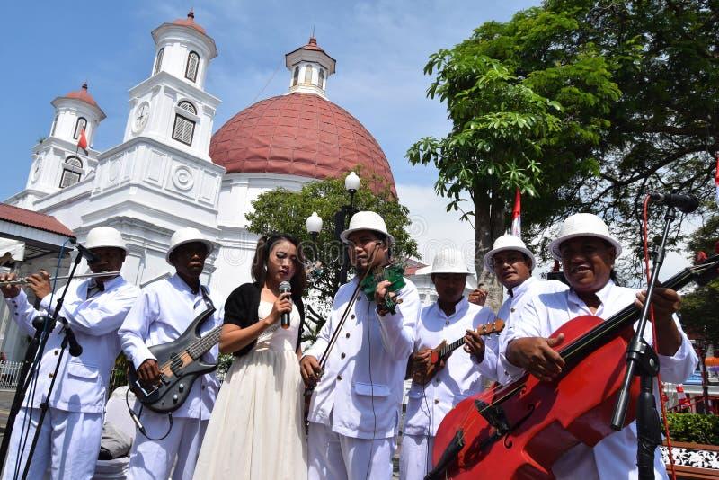 De schoonheid van de oude stad van Semarang royalty-vrije stock afbeelding